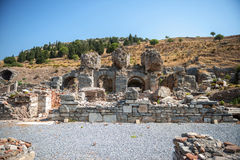 View of ancient city Ephesus, Turkey Stock Images