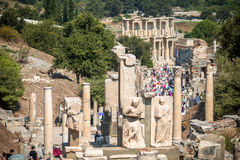 View of ancient city Ephesus, Turkey Royalty Free Stock Images