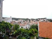 View on ancient city of Nerezine Royalty Free Stock Photo