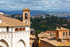 View of the ancient city of Perugia Stock Image