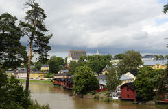 View of the ancient city Porvoo, Finland Royalty Free Stock Images