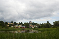 View of the ancient city Porvoo, Finland Royalty Free Stock Photography