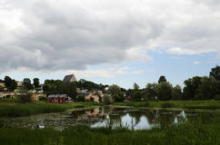 View of the ancient city Porvoo, Finland Stock Images