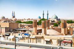 View of ancient city of Yazd, Iran Royalty Free Stock Images