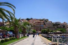 Beautiful view of Kavala, Greece, Europe royalty free stock photo