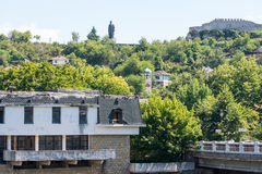 A view of the ancient fortress in Lovech, Bulgaria stock images