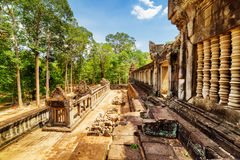 View of ancient galleries of Ta Keo temple in Angkor, Cambodia Stock Images
