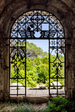 View through an ancient gate Stock Images