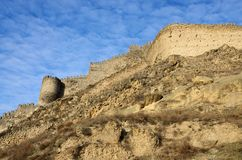 View of ancient Gori fortress wall,Georgia,Caucasus,Euroasia Royalty Free Stock Images