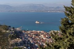 View on city Nafplion Greece, Peloponnese royalty free stock photography