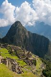 View of the ancient Inca city of Machu Picchu royalty free stock photos