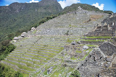 View of the ancient Inca City of Machu Picchu, Peru Stock Photos