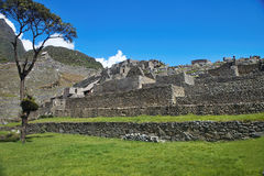 View of the ancient Inca City of Machu Picchu, Peru Royalty Free Stock Photography