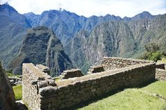 View of the ancient Inca City of Machu Picchu, Peru Royalty Free Stock Image