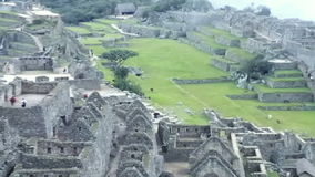 View of the ancient Inca City of Machu Picchu. The 15-th century Inca site. 'Lost city of the Incas'.