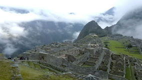 View of the ancient Inca City of Machu Picchu. The 15-th century Inca site.'Lost city of the Incas'. stock footage