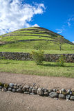 View of the ancient Inca ruins of Pumapungo. Ecuador, on a sunny day Royalty Free Stock Photography