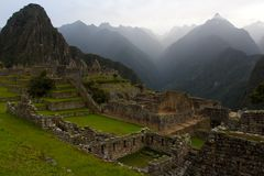 View of ancient incas town of Machu Picchu Stock Images