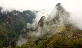 View of ancient incas town of Machu Picchu Royalty Free Stock Photography