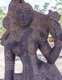 View of ancient indian women sculpture, Chennai, Tamilnadu, India. Jan 29 2017. View of ancient indian women sculpture, Chennai, Tamilnadu, India stock photos