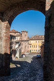 View of the ancient italian town Longiano Royalty Free Stock Photography