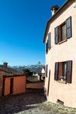 View of the ancient italian town Longiano Royalty Free Stock Photos