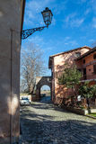 View of the ancient italian town Longiano Stock Photo