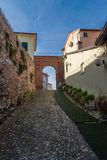 View of the ancient italian town Montiano Stock Photos