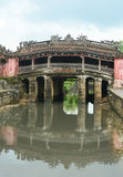 View of the ancient Japanese bridge in Hoi An Royalty Free Stock Images
