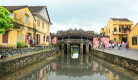 View of the ancient Japanese bridge in Hoi An Stock Photos