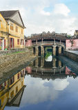 View of the ancient Japanese bridge in Hoi An Royalty Free Stock Photos