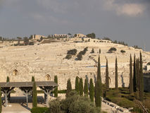 View of an ancient Jewish cemetery. Jerusalem, Israel Stock Photo