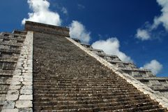 View of Ancient Mayan Pyramid Royalty Free Stock Photography