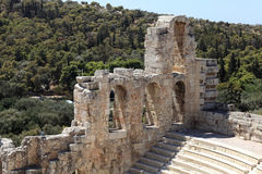 View of ancient Odeon of Herodes Atticus Royalty Free Stock Image