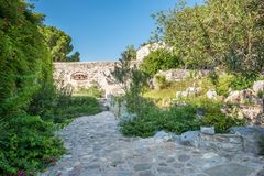View of ancient old Castle of St. Peter or Bodrum Castle stock photography