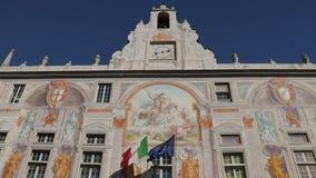 Genoa. Ancient port and aquarium.  stock video footage