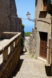 View of ancient road in Erice. Royalty Free Stock Images