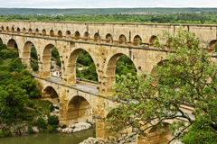 France's Ancient Pont du Gard Stock Photos