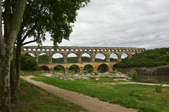 France's Pont du Gard Royalty Free Stock Images