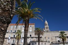 Split, Croatia, Diocletian palace facade. View of the ancient Roman Diocletian palace facade in the city centre of Split, Croatia Stock Photography