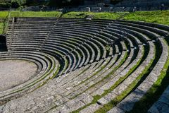 View of the ancient Roman theater of Fiesole royalty free stock photography