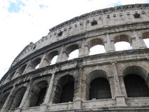 View of ancient rome coliseum ruins. A View of ancient rome coliseum ruins royalty free stock photography