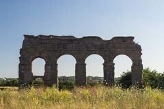 Ancient ruin in Rome Stock Photography