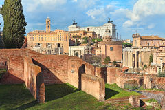 Ruins of roman forum. Stock Images