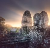 Sunrise view of ancient temple Bayon Angkor Wat Stock Photos