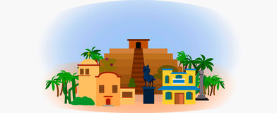 View of ancient temple in Latin America Royalty Free Stock Photo
