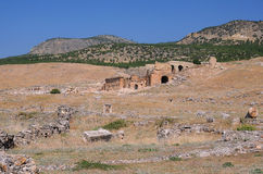 View of Ancient Theater in Hierapolis Royalty Free Stock Photo