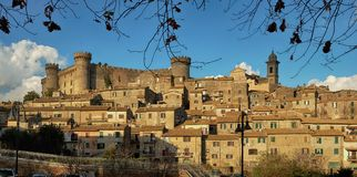 View of the ancient town of Bracciano near Rome, Italy