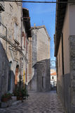 View of the ancient town - Corfinio, L'Aquila, Abruzzo Stock Photography