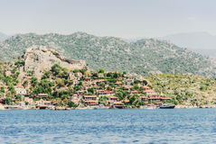 View of the ancient town on the island, Turkey, Demre Royalty Free Stock Photos